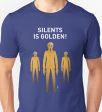 SILENTS IS GOLDEN TEE-SHIRT (WHITE TEXT) T-Shirt