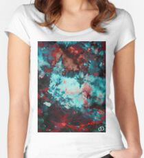 Digital Tie-Dye One Women's Fitted Scoop T-Shirt
