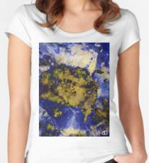 Digital Tie-Dye Three Women's Fitted Scoop T-Shirt