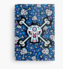 Mexican 'Day of the Dead' Skull Pattern Metal Print