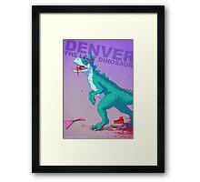 Denver the dinosaur Badass Framed Print