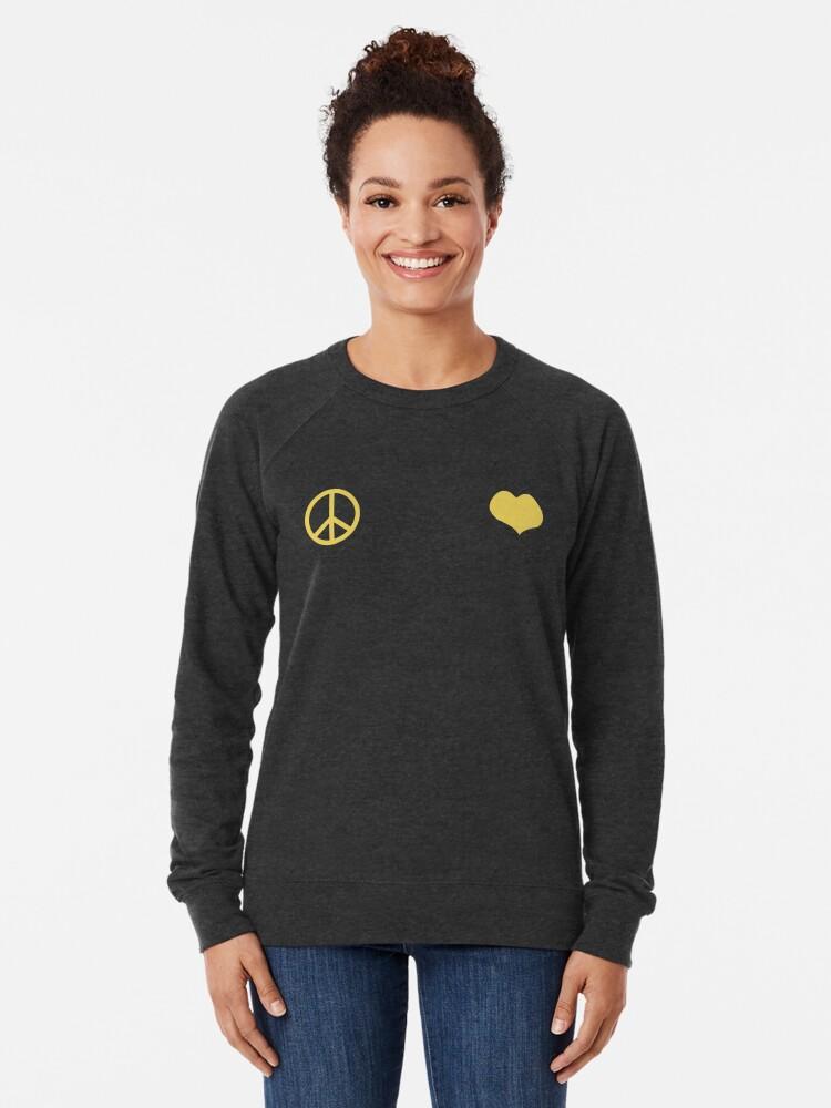Alternative Ansicht von Frieden und Liebe - Josuke Leichter Pullover