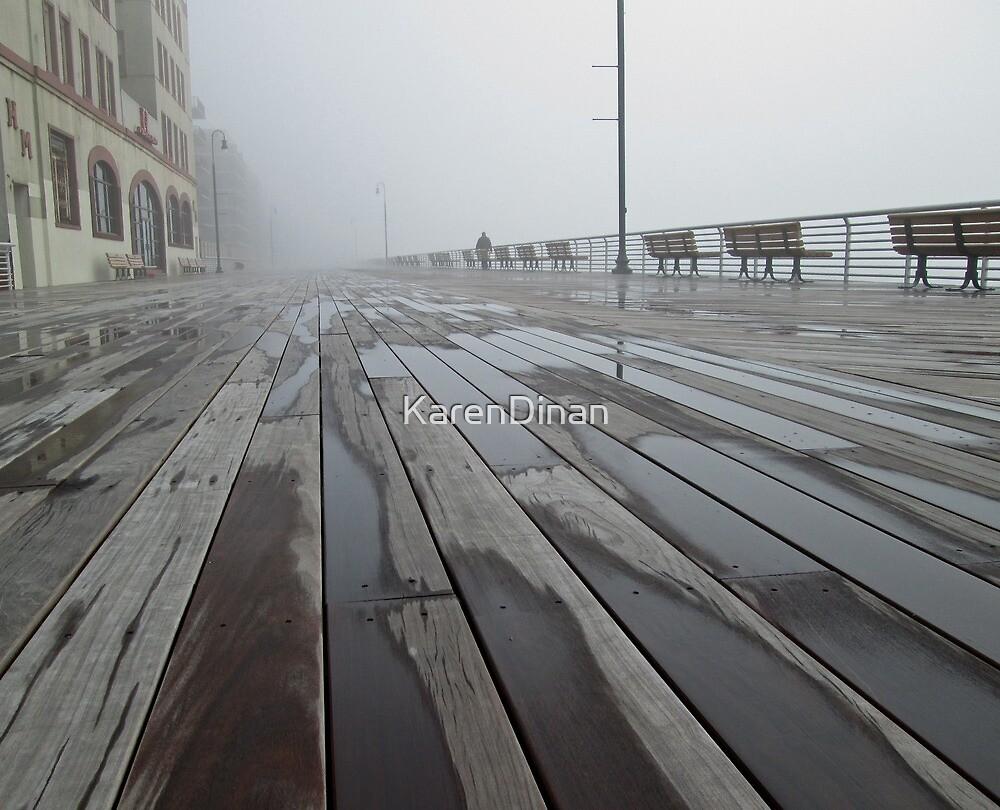 Fog on Winter's Boardwalk                                                 7595 by KarenDinan