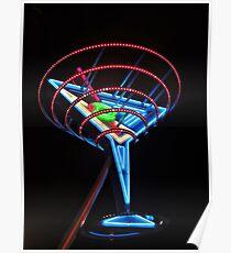 Neon Martini Poster