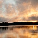 Sunrise over Lake by LisaPiellusch