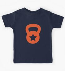 Orange Kettlebell With A Star Kids Tee