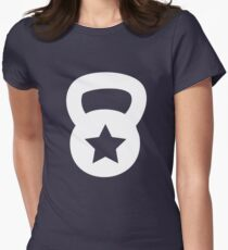 White Kettlebell With A Star T-Shirt