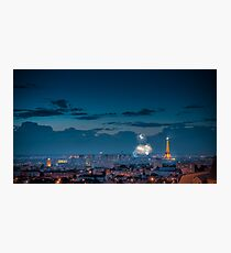 Fireworks at the Eiffel Tower Photographic Print