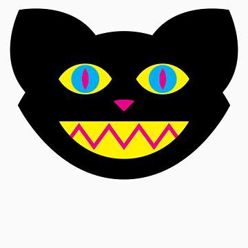 CMYBlack Cat head by jugend-blitz