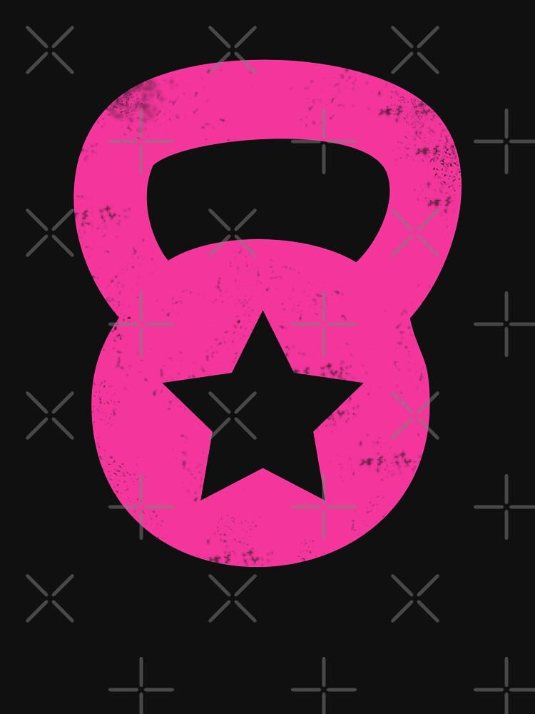 Pink Grunge Kettlebell With A Star von gyenayme