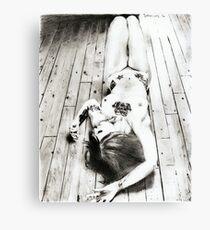 girl... posing ... pencil Canvas Print