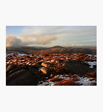 Warm Light On Cold Croaghnageer Photographic Print