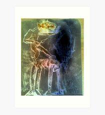 Lámina artística montando el ciervo, redescubrir la muerte