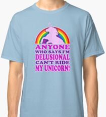 Funny Delusional Unicorn (Vintage Distressed Design) Classic T-Shirt