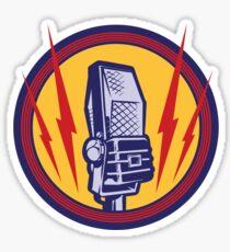 Vintage Microphone Sticker