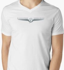 Dieselpunk Industries Metal Logo Men's V-Neck T-Shirt