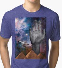 Galaxy Pyramid Hand Tri-blend T-Shirt