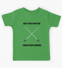 Camiseta para niños Highland Dance: I dance with swords!