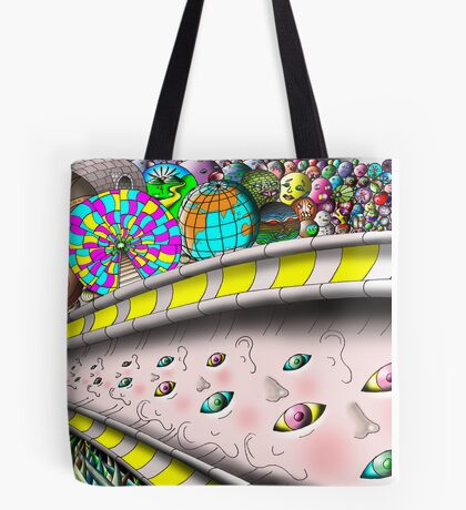 Eye Ball Composition Tote Bag