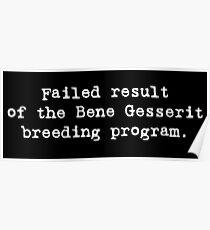 Failed Bene Gesserit Poster