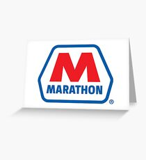 MARATHON LUBRICANT OIL RACING Greeting Card
