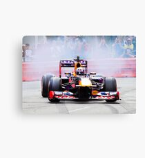 Daniel Ricciardo's F1 lights up the streets of Perth city in his Redbull race car Canvas Print