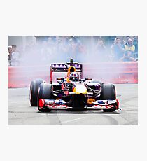 Daniel Ricciardo's F1 lights up the streets of Perth city in his Redbull race car Photographic Print