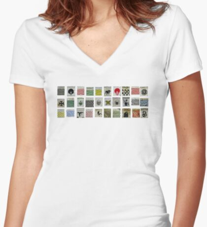 Got Baggies ? Women's Fitted V-Neck T-Shirt