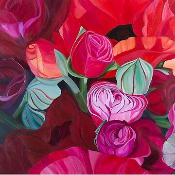 Ranunculus by JBPoppyArt