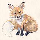 Fox by whiterabbitart