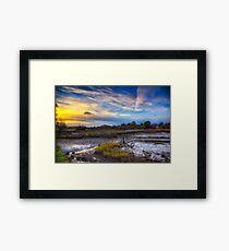 Causeway Sunset Framed Print