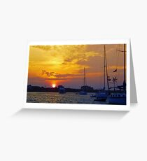 Great Salt Pond sunrise Greeting Card
