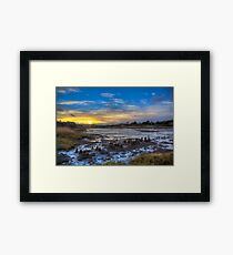 Sunset At The Yar Framed Print