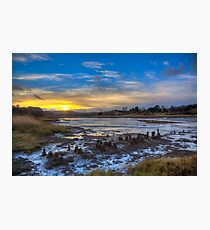 Sunset At The Yar Photographic Print