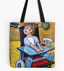Girl In Cast Tote Bag