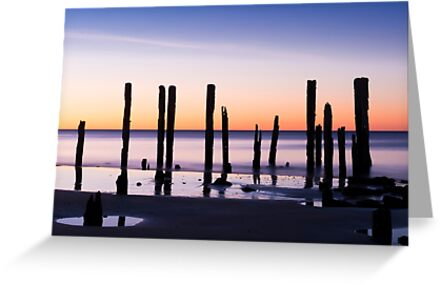 Port Willunga, South Australia at Sunset by Sharon Wills