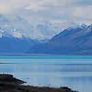 Lake near Mt Cook, NZ close up by Catherine Davis