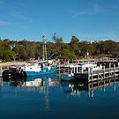 deep blue, Boats Lakes entrance by Glen Johnson
