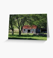 Picturesque decay at Wainui Bay  Greeting Card