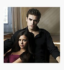 Stefan and Elena The Vampire Diaries Photographic Print
