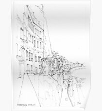 Vertical Amalfi Pencil and Ink Sketch Poster