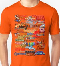 Retro Nintendo Titles  Unisex T-Shirt