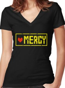 Undertale Mercy Women's Fitted V-Neck T-Shirt