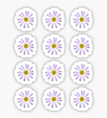 Lila Gänseblümchen Sticker