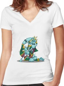 No, I'm the Real King! Women's Fitted V-Neck T-Shirt