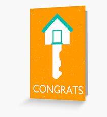 congrats homekey Greeting Card