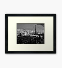 Castle District viewed from Pest Framed Print