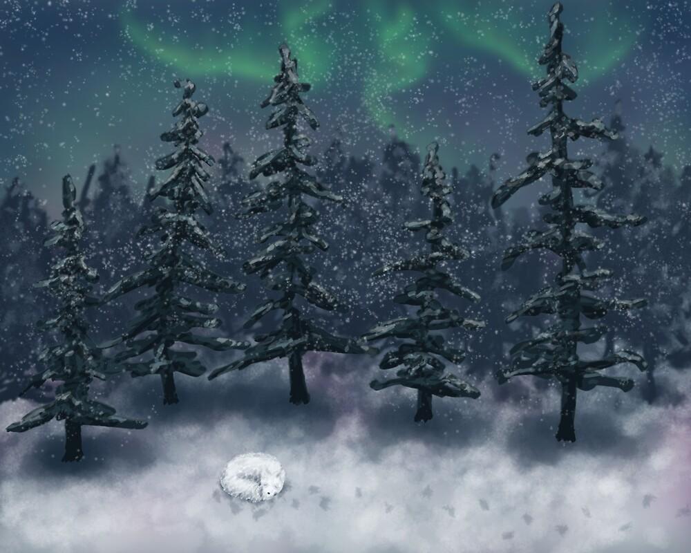 Silent Night, Foxy Night by moosegalore