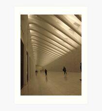 The New World Trade Center Passenger Concourse, Lower Manhattan, New York City  Art Print
