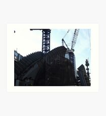 The World Trade Center Transit Hub Begins to Rise, Santiago Calatrava, Designer, Lower Manhattan, New York City Art Print